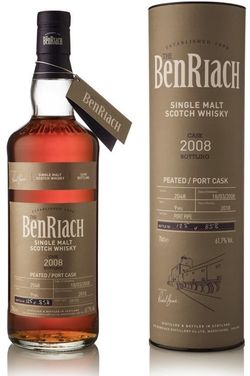 BenRiach Port Cask Peated 9y 2008 0,7l 61,7% / Rok lahvování 2018