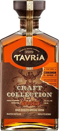 Strong drink Tavria Craft Collection Spiced 0,5l 40%