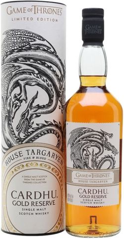 Game of Thrones House Targaryen - Cardhu Gold Reserve 0,7l 40% Tuba / Rok lahvování 2018