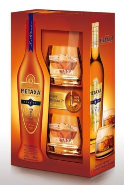 Metaxa 7* 0,7l 40% + 2x sklo GB