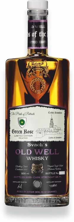 Svach's Old Well Whisky Green Rose 0,5l 58,7% GB L.E. / Rok lahvování 2020